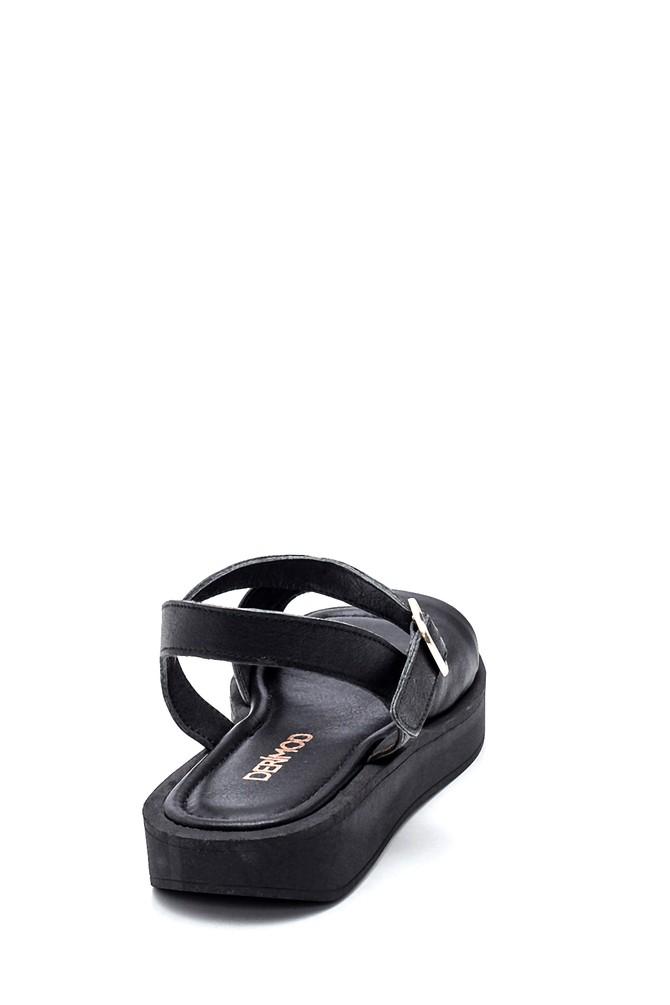 5638261992 Kadın Casual Deri Sandalet