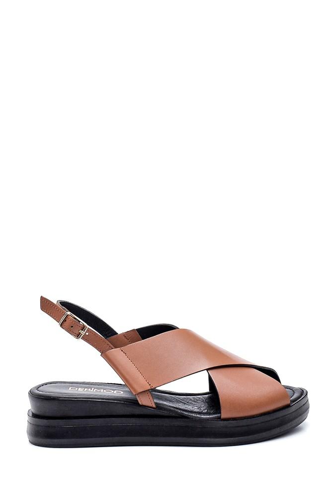 Taba Kadın Casual Deri Sandalet 5638262048