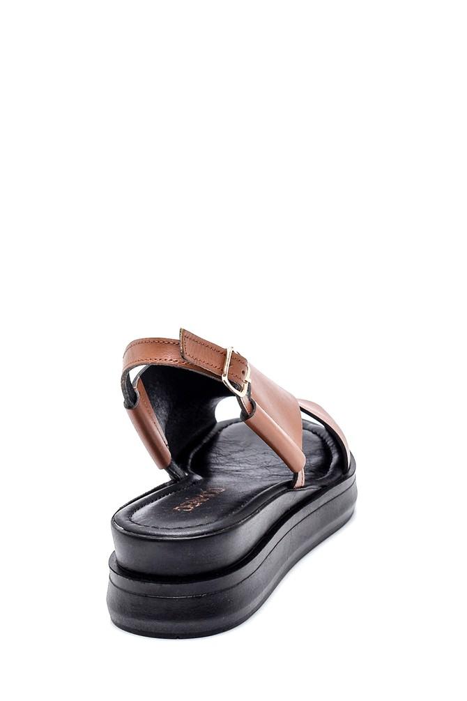5638262048 Kadın Casual Deri Sandalet