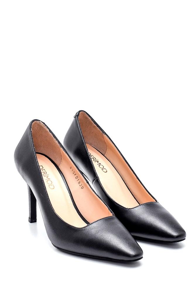 5638305814 Kadın Deri Topuklu Ayakkabı