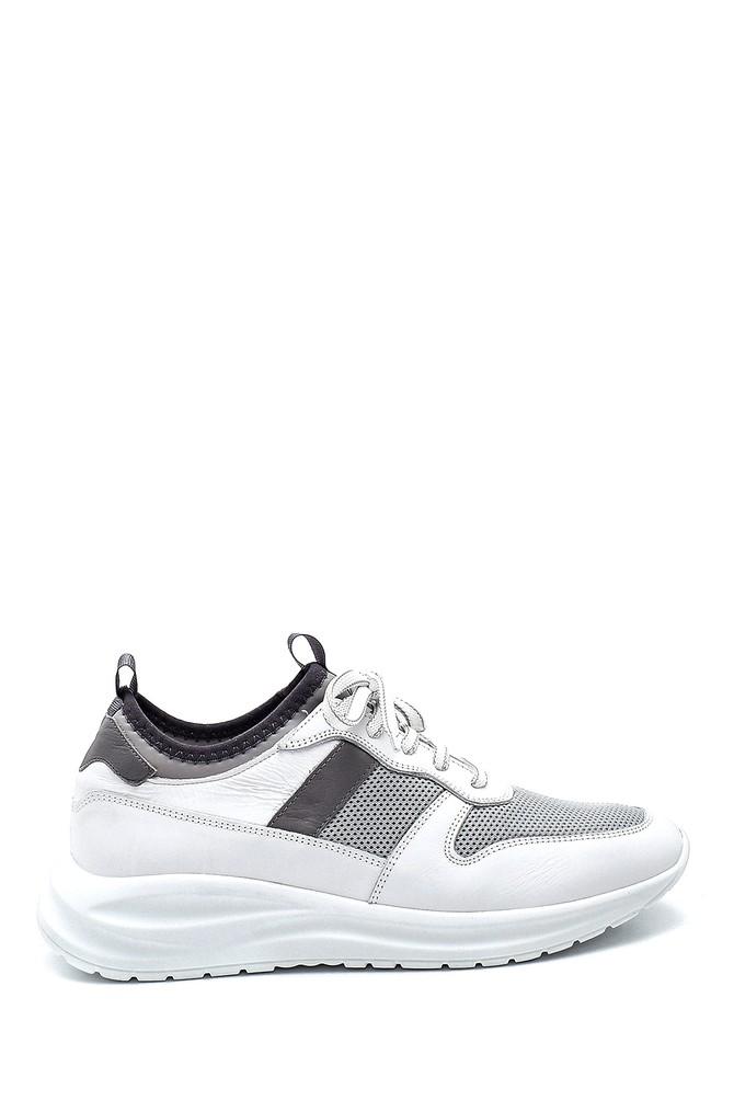 Beyaz Erkek Deri Sneaker 5638325173