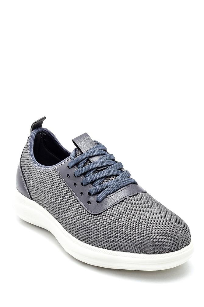 5638257796 Erkek Deri Detaylı Çorap Sneaker