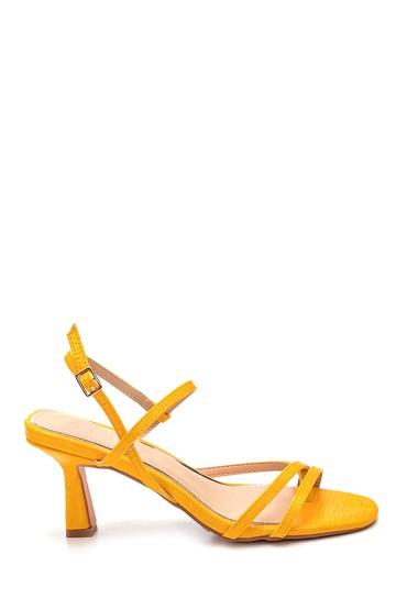 Sarı Kadın Casual Topuklu Sandalet 5638259147