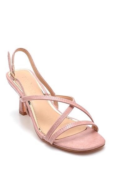 Pudra Kadın Casual Topuklu Sandalet 5638259187