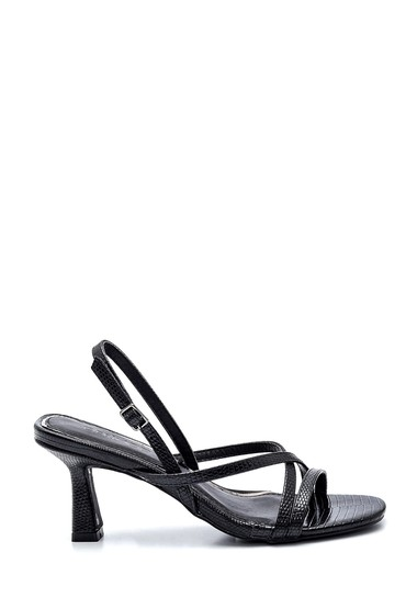 Siyah Kadın Casual Topuklu Sandalet 5638259192