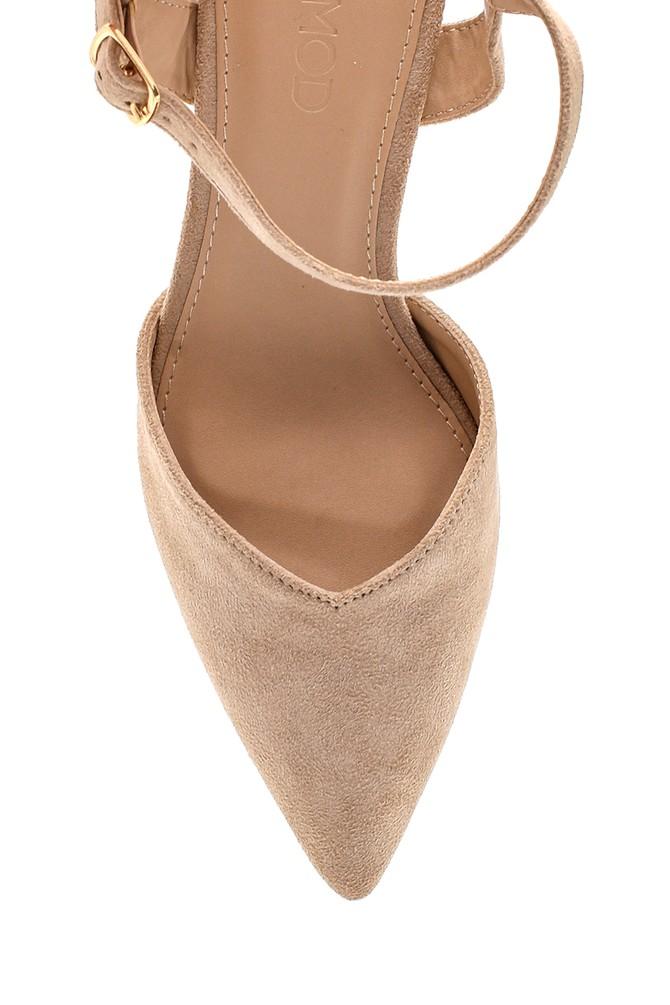 5638259237 Kadın Süet Topuklu Sandalet