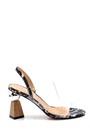 5638258474 Kadın Şeffaf Bantlı Topuklu Sandalet