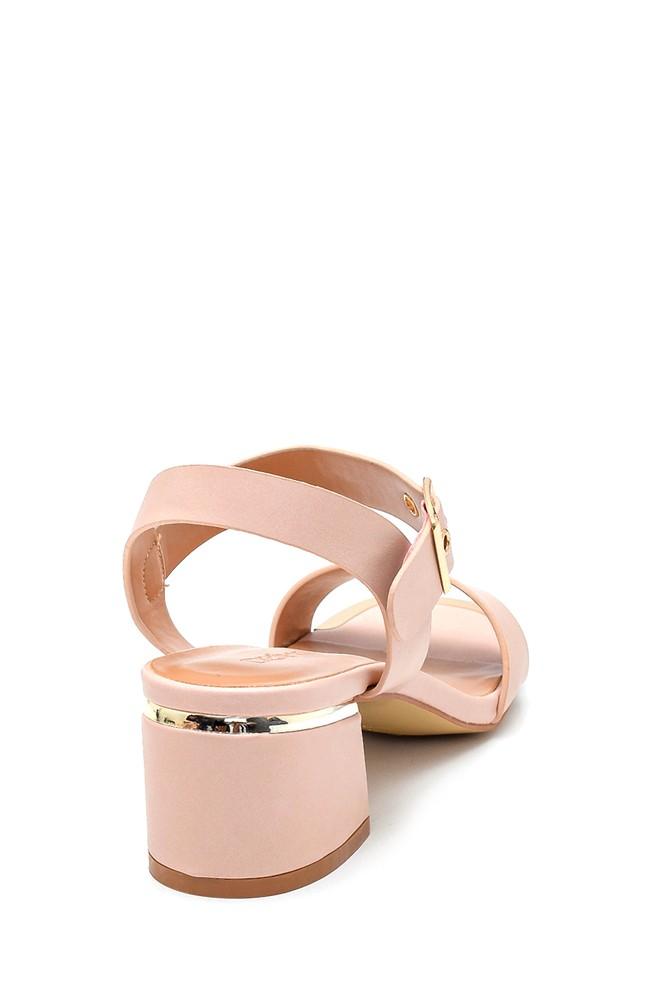 5638263326 Kadın Casual Topuklu Sandalet