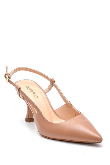 Pembe Kadın Casual Topuklu Deri Ayakkabı 5638297614