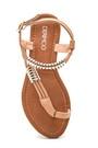 5638258294 Kadın Parmak Arası Detaylı Casual Sandalet