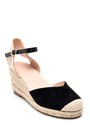 5638261065 Kadın Hasır Dolgu Topuklu Sandalet