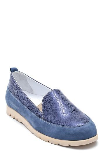 Lacivert Kadın Casual Deri Ayakkabı 5638298099