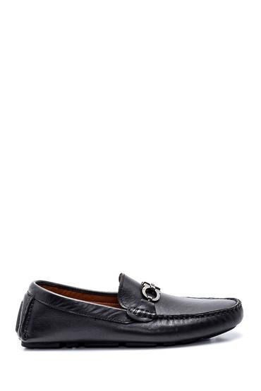 Siyah Erkek Deri Loafer Ayakkabı 5638250682
