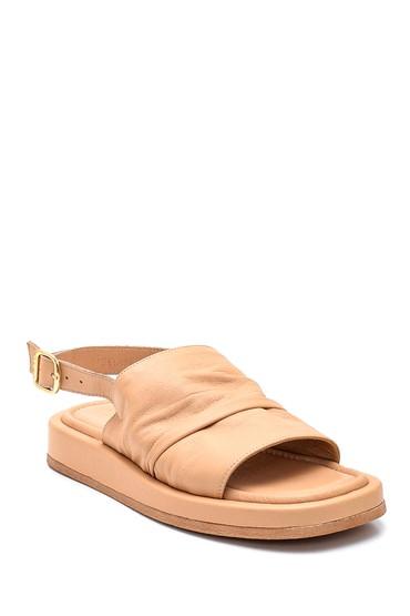 Bej Kadın Deri Sandalet 5638262030