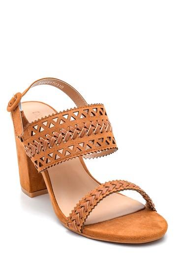 Taba Kadın Örgülü Topuklu Sandalet 5638261104