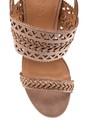 5638261094 Kadın Örgülü Topuklu Sandalet