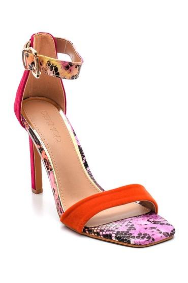 Pembe Kadın Casual Topuklu Sandalet 5638261141