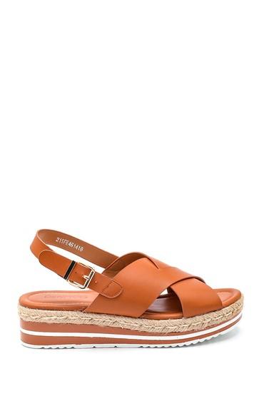 Camel Kadın Dolgu Topuk Sandalet 5638262410