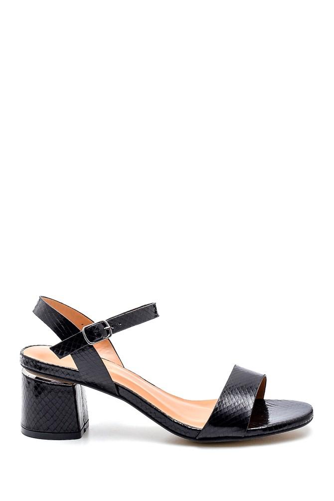Siyah Kadın Casual Topuklu Sandalet 5638263346