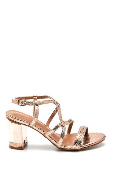Pembe Kadın Casual Topuklu Sandalet 5638263389
