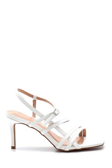 Beyaz Kadın Topuklu Sandalet 5638268432