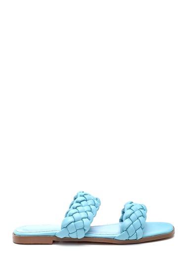 Mavi Kadın Örgülü Terlik 5638268474