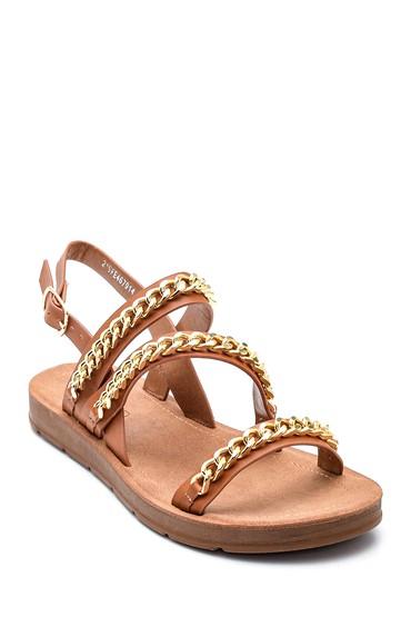 Taba Kadın Zincir Detaylı Sandalet 5638271144