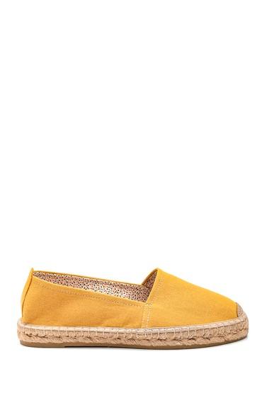 Sarı Kadın Deri Espadril Ayakkabı 5638338152