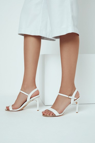 Beyaz Kadın Klasik Topuklu Sandalet 5638128966