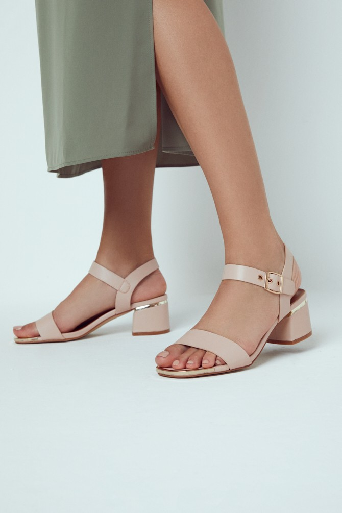 Pudra Kadın Casual Topuklu Sandalet 5638263326