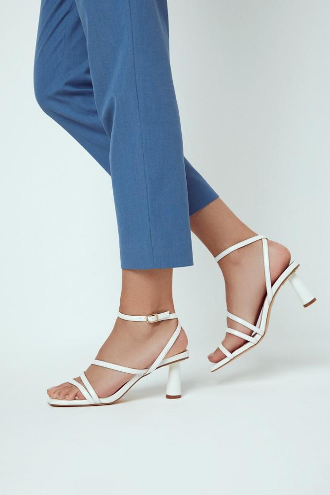 Beyaz Kadın Casual Topuklu Sandalet 5638267375