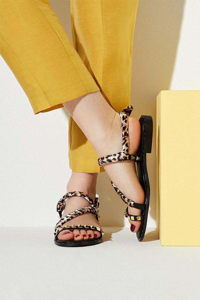 Siyah Kadın Casual Sandalet 5638135823