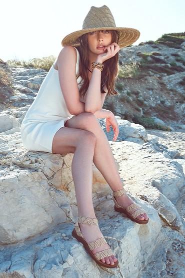 Bej Kadın Kumaş Detaylı Sandalet 5638262270
