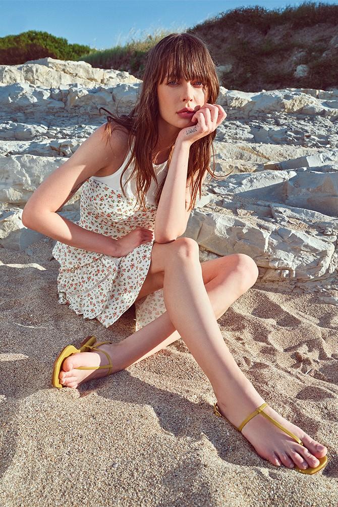 Sarı Kadın Casual Parmak Arası Sandalet 5638266245