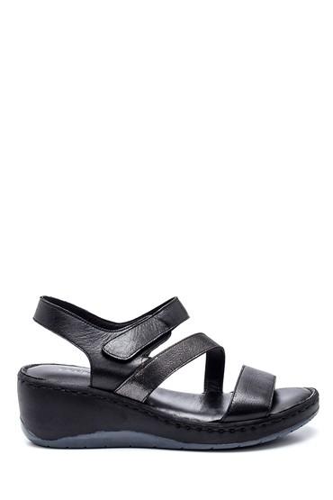 Siyah Kadın Deri Sandalet 5638273875