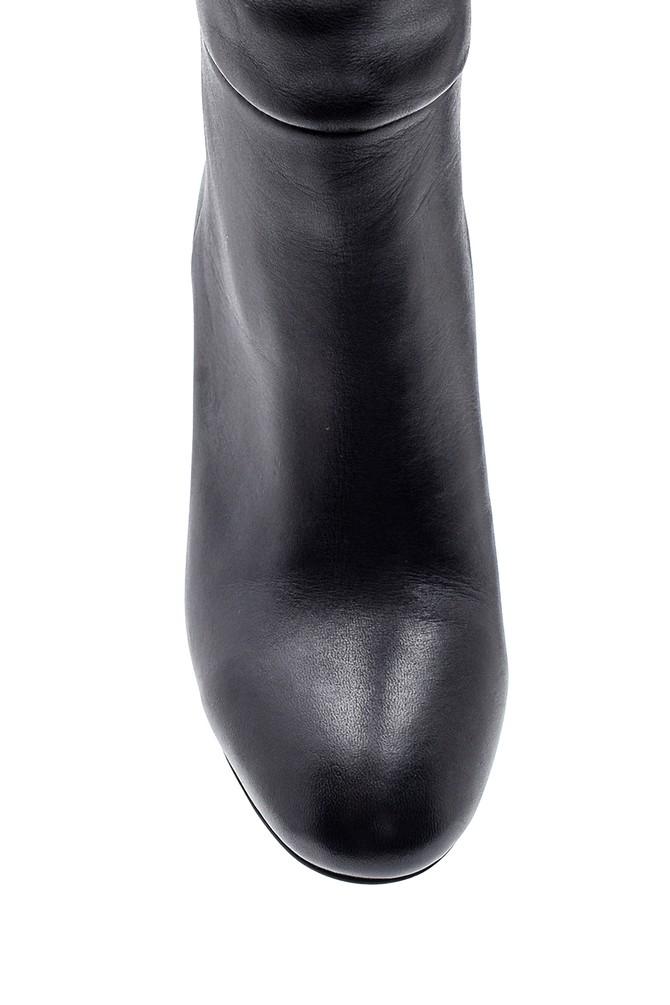 5638202780 Kadın Deri Topuklu Çizme