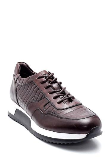 Kahverengi Erkek Deri Sneaker 5638247873