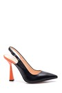 5638281214 Kadın Deri Topuklu Ayakkabı