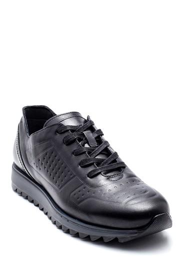 Siyah Erkek Deri Sneaker 5638311680