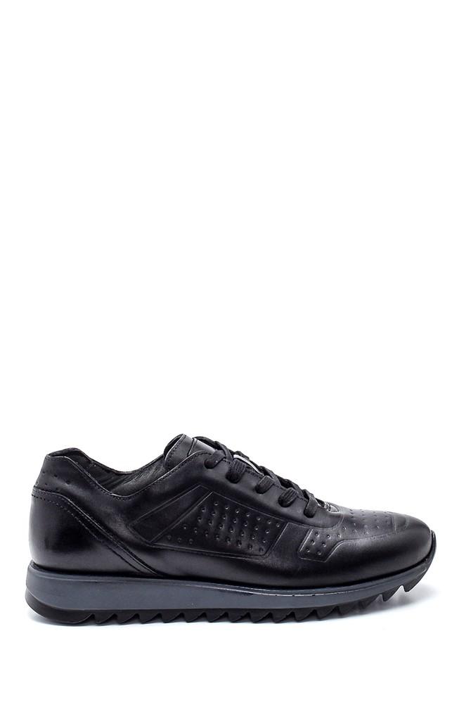 Siyah Erkek Deri Sneaker 5638311688