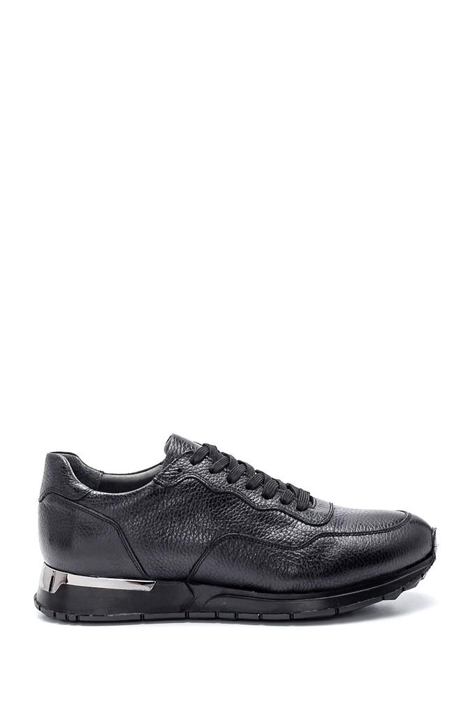 Siyah Erkek Deri Sneaker 5638312061