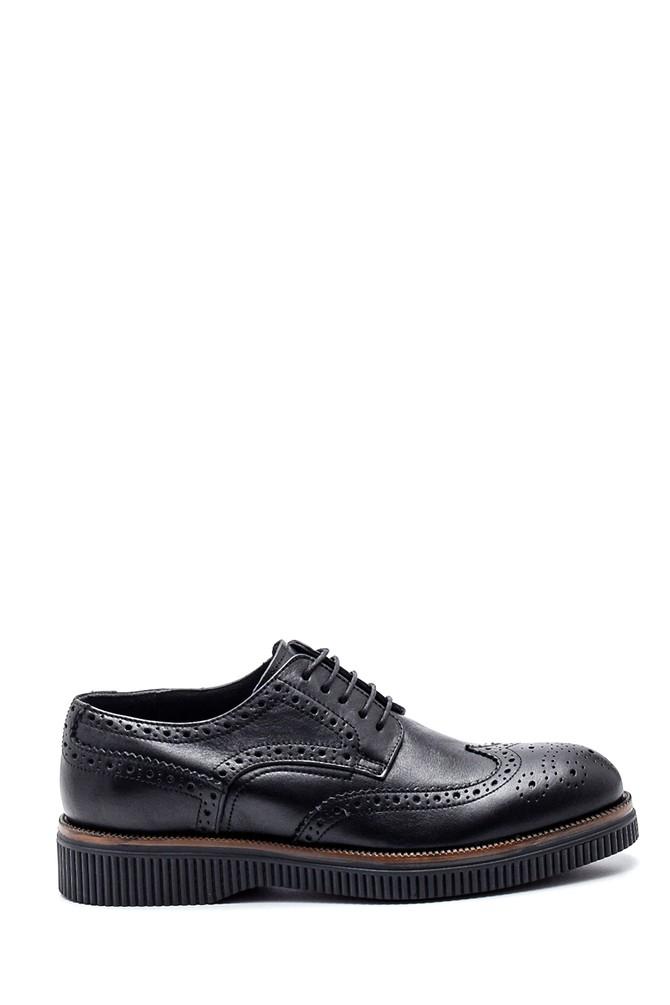 Siyah Erkek Deri Casual Ayakkabı 5638317161