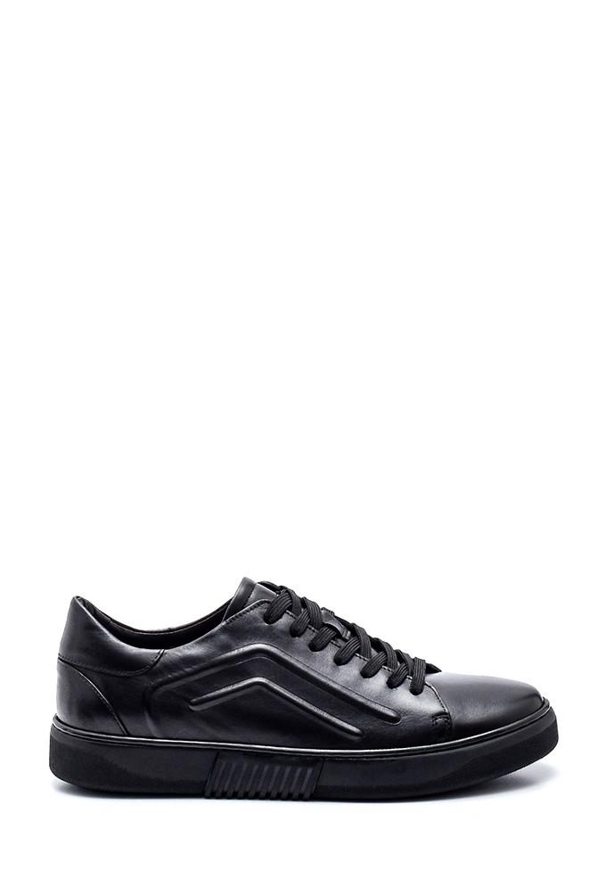 Siyah Erkek Deri Sneaker 5638317262