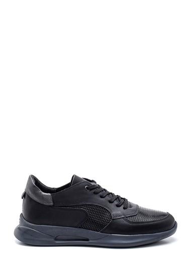 Siyah Erkek Deri Sneaker 5638318844