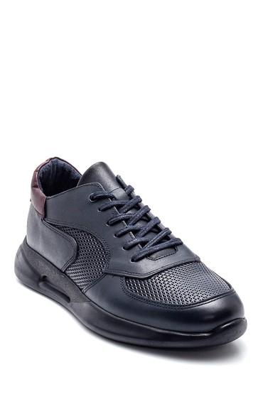 Lacivert Erkek Deri Sneaker 5638318846