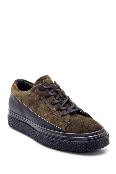 Haki Erkek Süet Deri Sneaker 5638331892