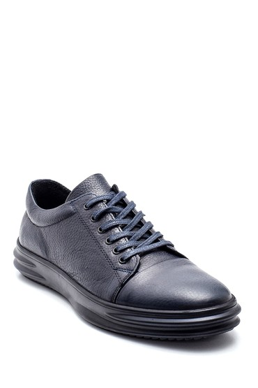 Lacivert Erkek Deri Sneaker 5638343455