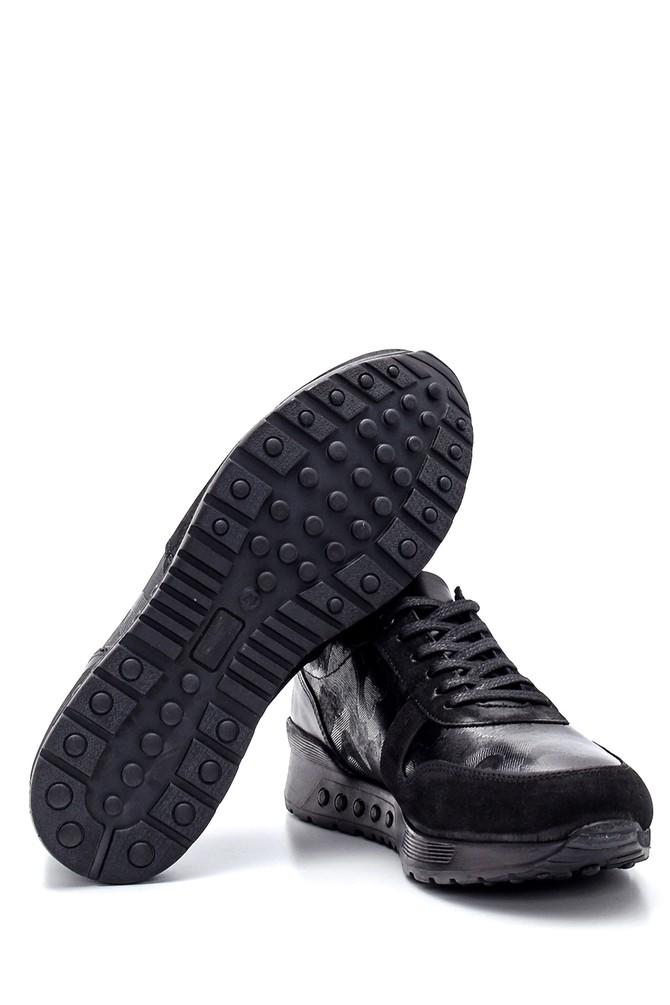 5638318744 Erkek Deri Süet Detaylı Sneaker