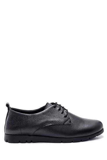 Siyah Kadın Deri Ayakkabı 5638308604