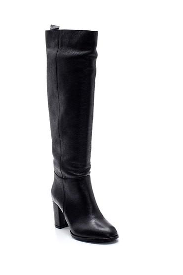 Siyah Kadın Deri Topuklu Çizme 5638308734
